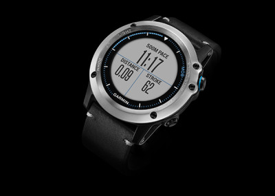 fenix 3 - Sapphire - Silver and Leather, Standard View, United States